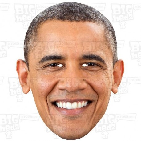 BARACK OBAMA : Life-size Card Face Mask
