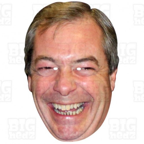 NIGEL FARAGE : Life-size Face Mask