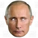 VLADIMIR PUTIN : Life-size Card Face Mask
