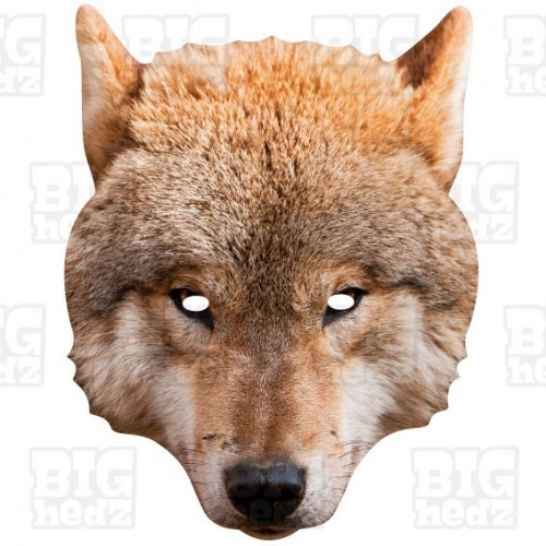 WOLF : Life-size Card Face Mask