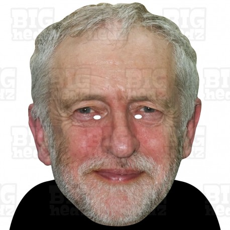 JEREMY CORBYN : BIG A3 Size Card Face Mask