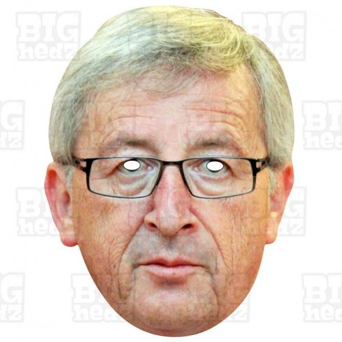 JEAN-CLAUDE JUNCKER : Life-size Card Face Mask