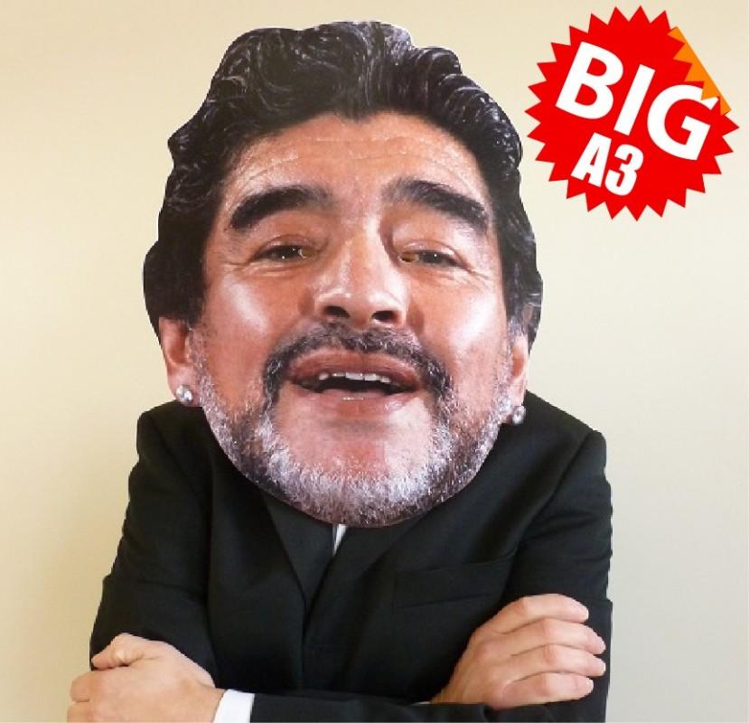 Diego Maradona BIG A3 Size Face Mask, by BIGhedz!