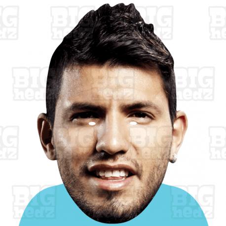 "Sergio ""Kun"" Aguero : BIGHEAD A3 Size Card Face Mask"