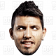 "SERGIO ""Kun"" AGUERO + PEP GUARDIOLA : Life-size Card Face Masks TWIN PACK"