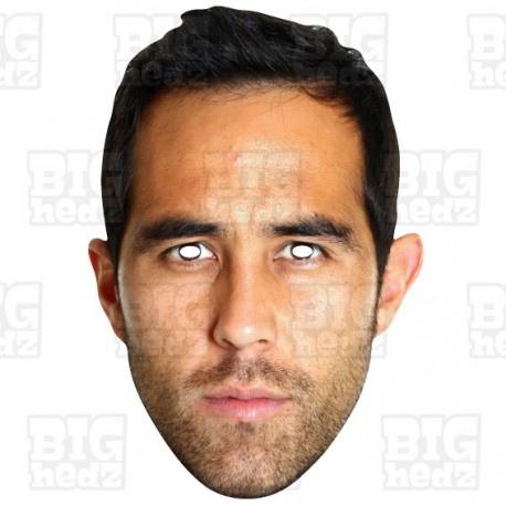 Claudio Bravo : BIG A3 Size Card Face Mask City Manchester Goalkeeper Chile