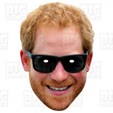 PRINCE HARRY : Life-size Card Face Mask Royal Family Wedding to Meghan