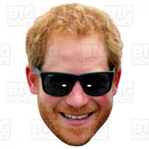 Prince Harry : BIG A3 Size Card Face Mask. Royal Wedding Meghan