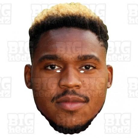 Britt Assombalonga : BIG A3 Size Card Face Mask Middlesbrough Striker