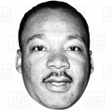 MARTIN LUTHER KING : Life-size Card Face Mask