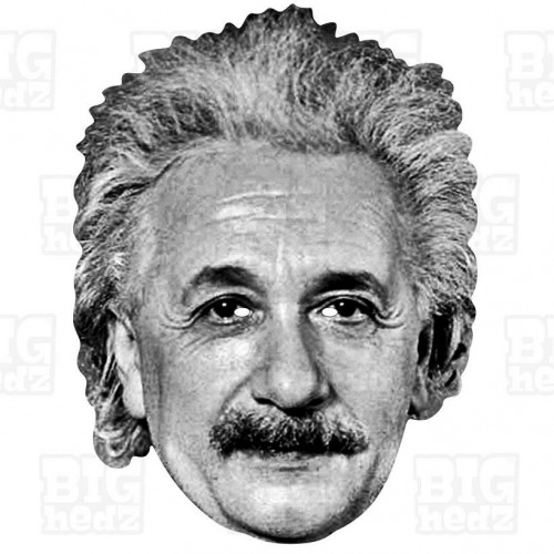 ALBERT EINSTEIN : Life-size Card Face Mask