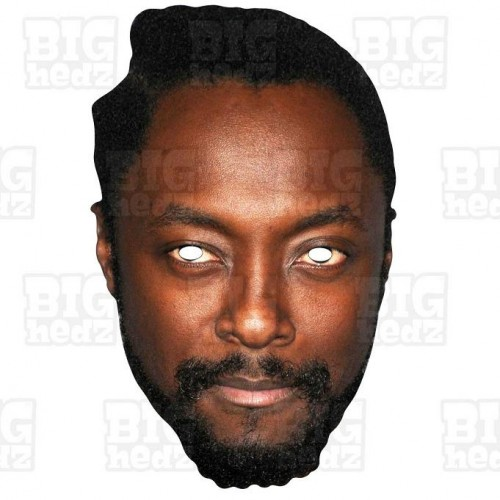 Will.i.am : Life-size Card Face Mask