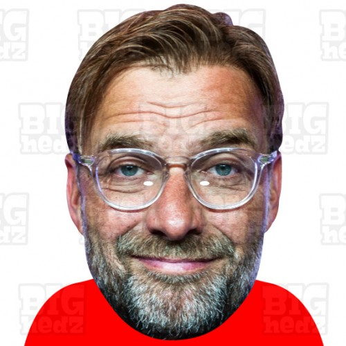 JURGEN KLOPP : BIG A3 Size Card Face Mask Boss Manager FC Liverpool