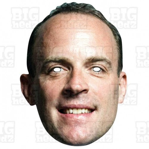 Dominic Raab : Life-size Card Face Mask Brexit Party