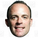 DOMINIC RAAB : A3 Size Card Face Mask Brexit Party NO DEAL