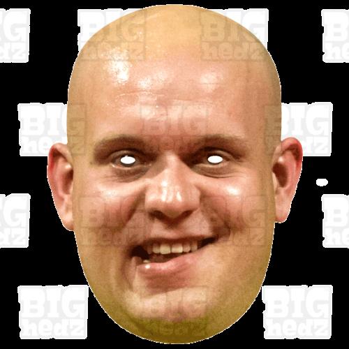 Michael Van Gerwen MVG : Life-size Face Mask