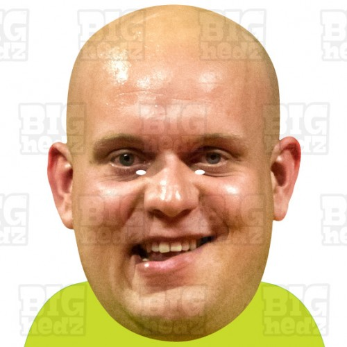 MICHAEL VAN GERWEN MVG : BIG A3 Size Card Face Mask. World Darts Champion