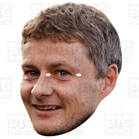 Ole Gunnar Solksjaer : Life-size Card Face Mask FC Manchester Manager United
