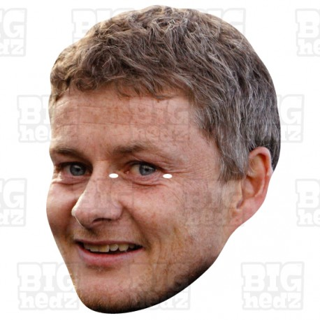 Ole Gunnar Solksjaer : BIG A3 Size card face mask.