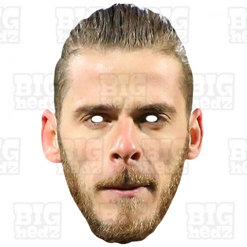 David De Gea : Life-size Card Face Mask United Manchester FC