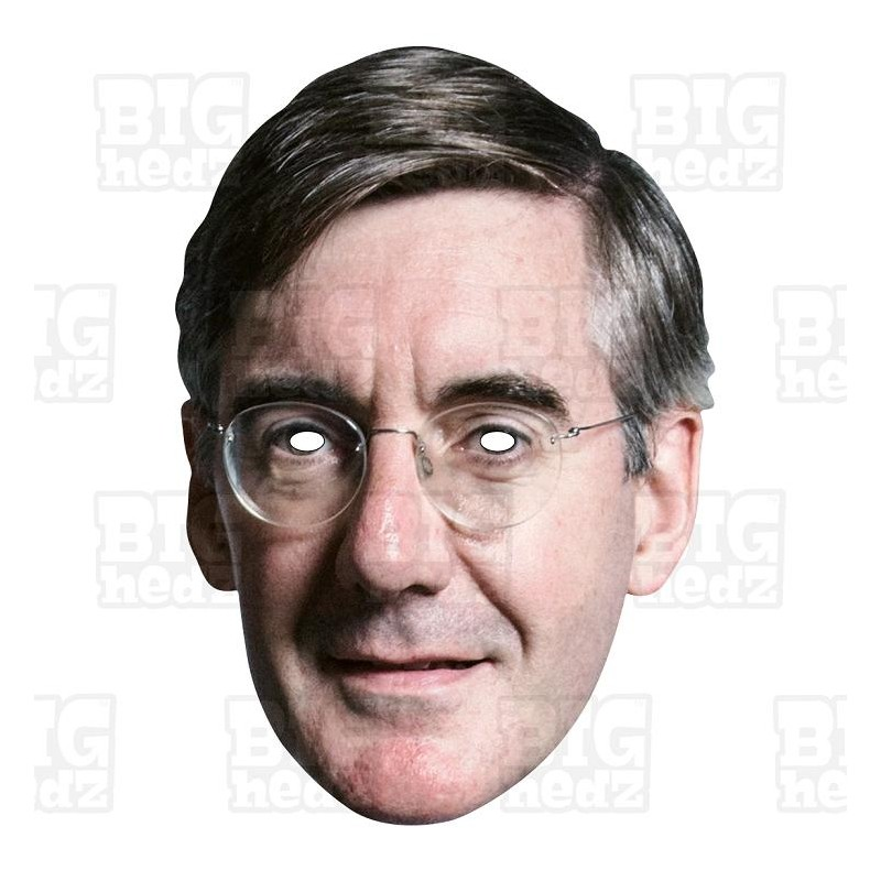 photograph regarding Donald Trump Mask Printable named JACOB REES-MOGG: Daily life-sizing Celeb Encounter Mask. Euro BREXIT