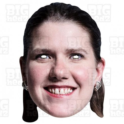 Jo Swinson : Life-size Face Mask