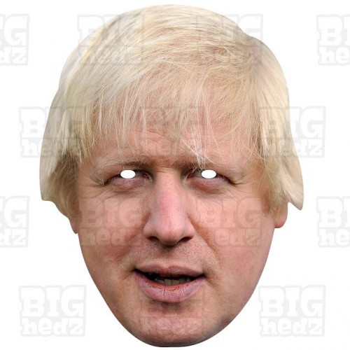 BORIS JOHNSON : Life-size Card Face Mask BREXIT Prime Minister