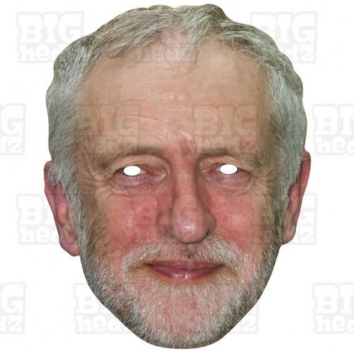 JEREMY CORBYN : Life-size Card Face Mask Labour Party Leader for the BREXIT General Election