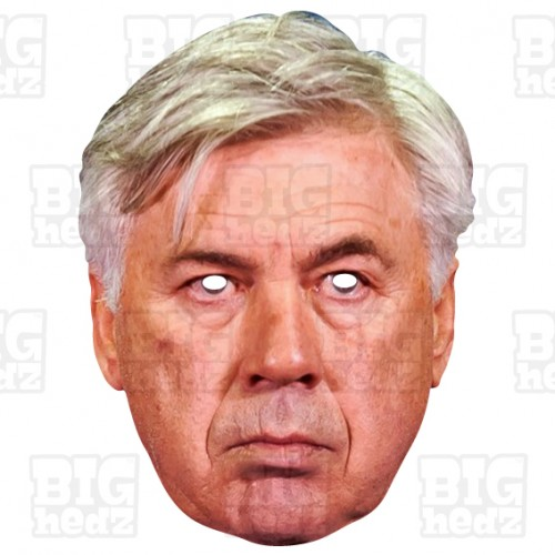 CARLO ANCELOTTI : Life-size Card Face Mask of New Everton Football Manager