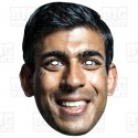 Rishi Sunak : Life-size card face mask of the Chancellor of the Exchequer