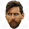 LIONEL MESSI : Life-size Card Face Mask with beard