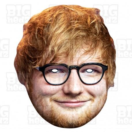 ED SHEERAN : Life-size Card Face Mask